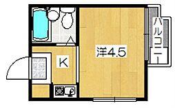 カーサ・アサヒ[3階]の間取り