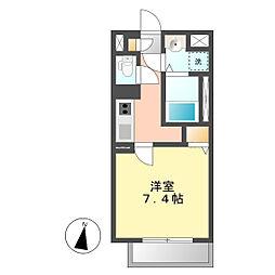 愛知県名古屋市西区栄生2丁目の賃貸マンションの間取り