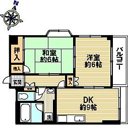 ラ・メール魚崎[3階]の間取り