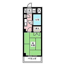 CASANOAH名古屋Ⅲ[3階]の間取り