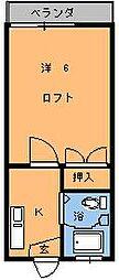 インペリアルエスケイ1[203号室]の間取り