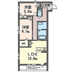 仮)五井中央通りマンション[208号室]の間取り