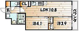 サンクレシア戸畑駅前II[3階]の間取り