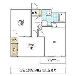 東金沢マンション[202号室号室]の間取り