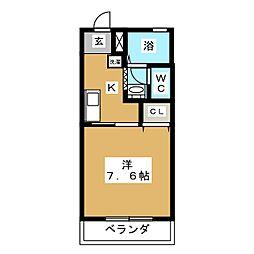 三重県桑名市神楽町1丁目の賃貸マンションの間取り
