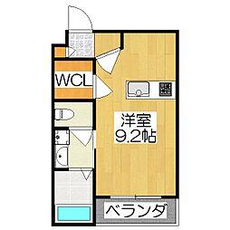 京阪本線 藤森駅 徒歩7分の賃貸マンション 5階ワンルームの間取り