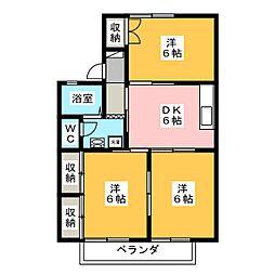セジュールポルテ[2階]の間取り