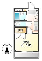 アメニティ名駅[2階]の間取り
