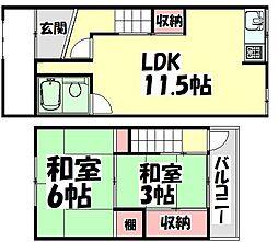 [一戸建] 大阪府和泉市富秋町2丁目 の賃貸【/】の間取り