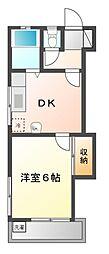 コーポ藤崎II[1階]の間取り