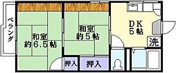 ハイツエトアール[2階]の間取り