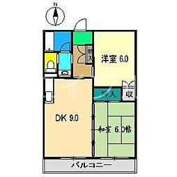 インペリアル西本2[4階]の間取り