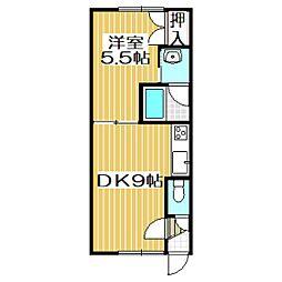 Mハイツ宮の森3[2階]の間取り