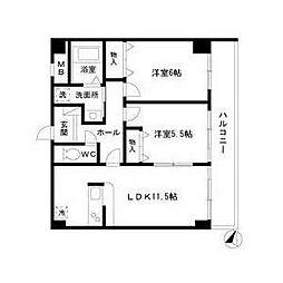 名古屋市営東山線 本山駅 徒歩10分の賃貸マンション 1階2LDKの間取り