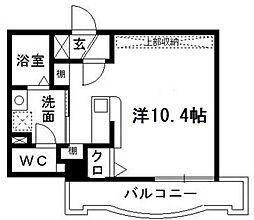 アップル第7マンション[707号室]の間取り