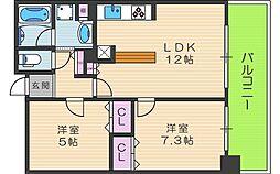 リーガル西梅田[9階]の間取り