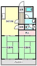 福井マンション[301号室]の間取り