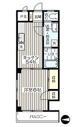 東京都板橋区仲町の賃貸マンションの間取り