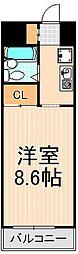 エクセル東綾瀬[3階]の間取り