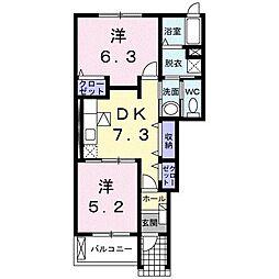 ドリーム ハウス[1階]の間取り