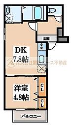大阪府堺市中区新家町の賃貸アパートの間取り