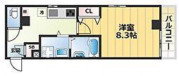 エムズコート小阪[3階]の間取り