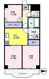 メゾン・ド・ベール早稲田1[6階]の間取り