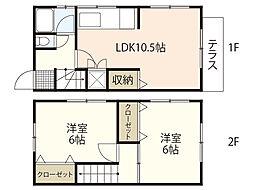 木原アパート[1階]の間取り