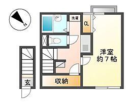 愛知県東海市高横須賀町呉天石の賃貸アパートの間取り