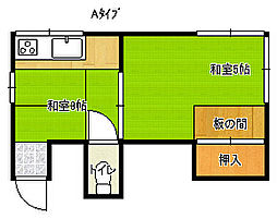千楽荘[2階]の間取り