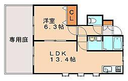 フォレストハウス野間B[1階]の間取り