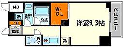 エステムコート新大阪Xザ・ゲート 7階1Kの間取り