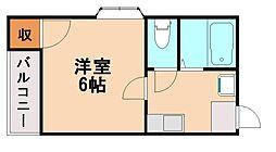 プロムナード博多[2階]の間取り
