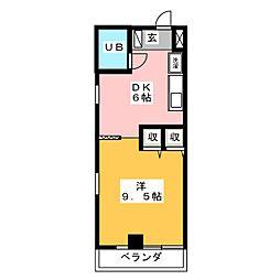 ロータリーヒーロー[6階]の間取り