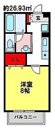 マリンコート[2階]の間取り