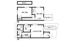 [テラスハウス] 兵庫県西宮市松生町 の賃貸【/】の間取り