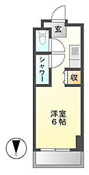 NS ZEAL東別院[2階]の間取り