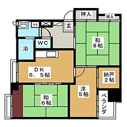 クレセント多賀城[5階]の間取り