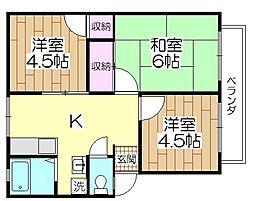 櫻シティA棟[102号号室]の間取り