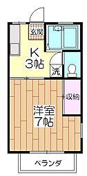 竹ノ塚ハイツ[201号室]の間取り
