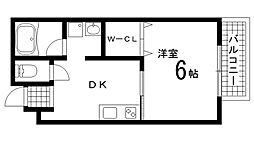 兵庫県神戸市長田区大道通1丁目の賃貸マンションの間取り