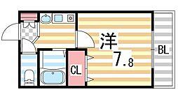 生駒カレッジシティ[407号室]の間取り