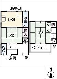 [タウンハウス] 愛知県北名古屋市徳重生田 の賃貸【愛知県 / 北名古屋市】の間取り