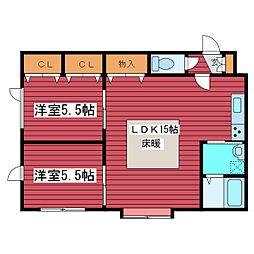 アークコート福住[3階]の間取り