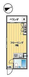 フローラル笹塚[101号室]の間取り