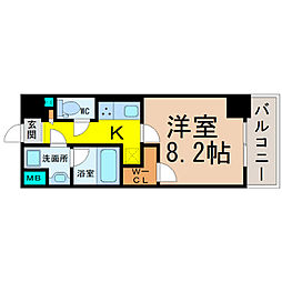 愛知県名古屋市北区山田1丁目の賃貸マンションの間取り