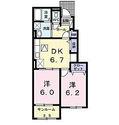 ルミナーレ[1階]の間取り