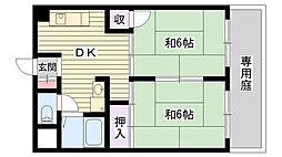プチハイム薫[102号室]の間取り