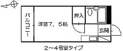 petit pas舟入[3階]の間取り