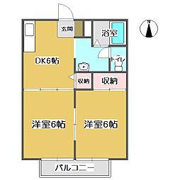 ジュネス高橋 B・C[C102号室]の間取り